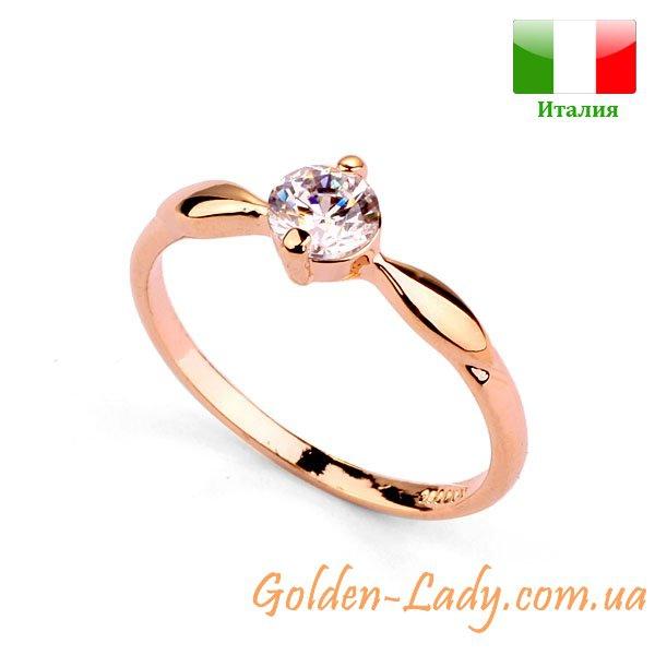 """Симпатичное кольцо с фианитом """"Izabella"""""""