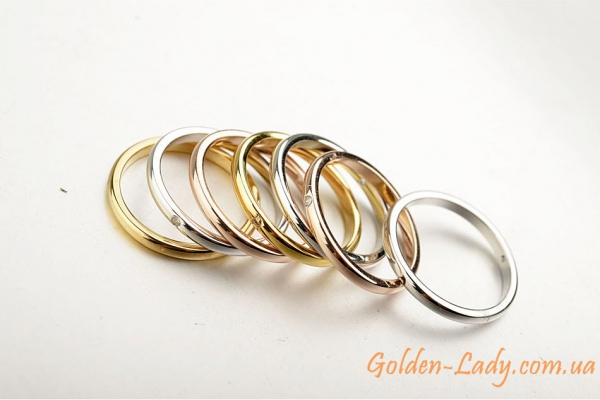 набор золотых колец 7 в 1