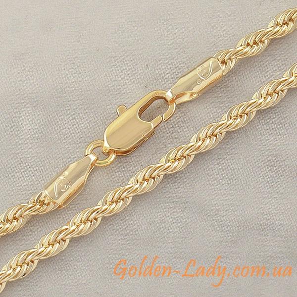 цепочка витого типа, покрытая золото 750