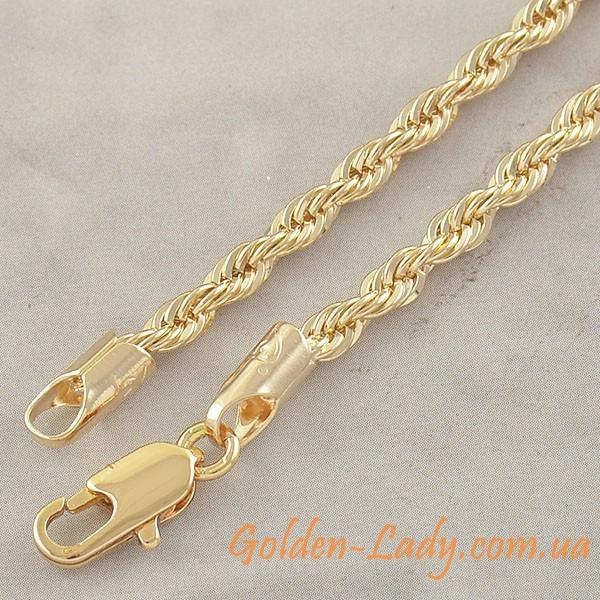 прочная цепочка с заветвлением, золото 750