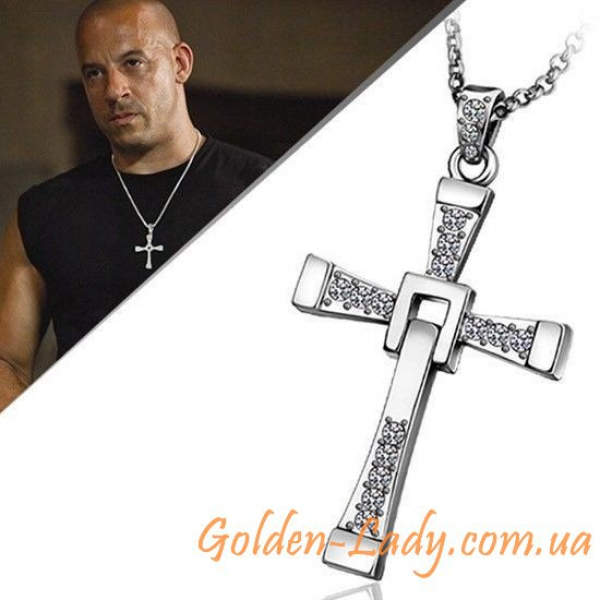 Кулон в форме креста из Форсажа