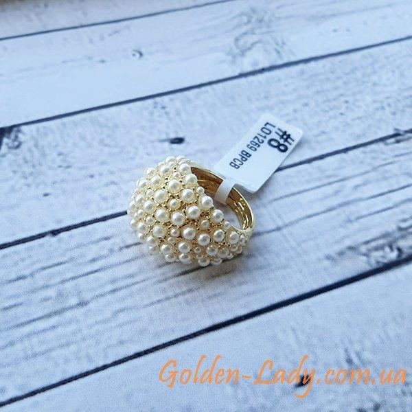 кольцо с маленькими жемчужинами