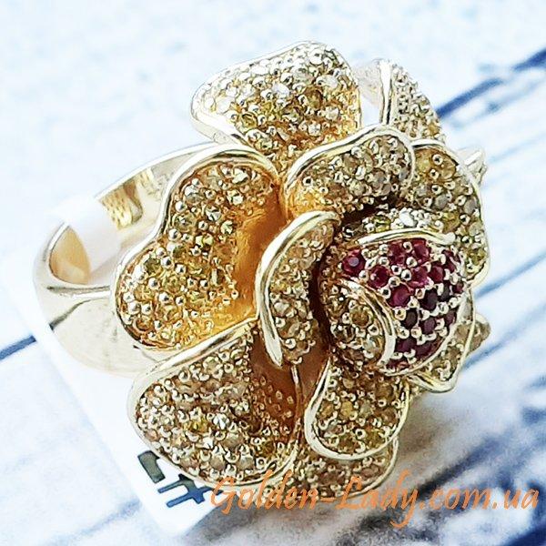 большое кольцо с цветком