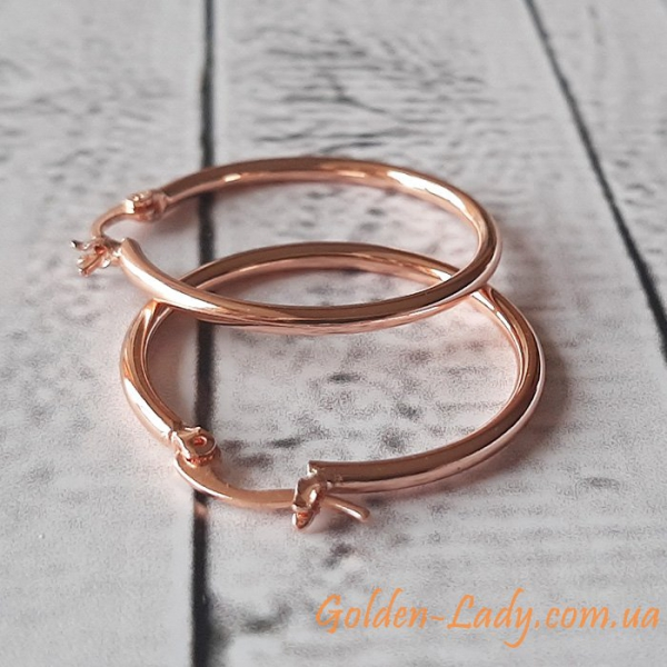 сережки кольцами маленькие