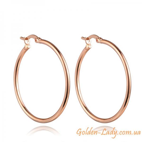 Сережки в форме кольца
