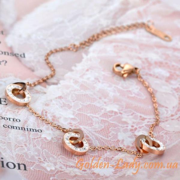 женский браслет с кружочками