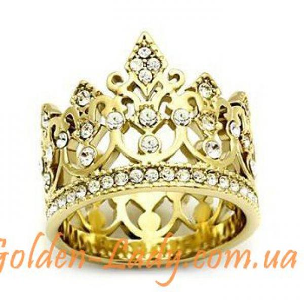 """Кольцо-Корона """"Elisabeth"""" с фианитами"""