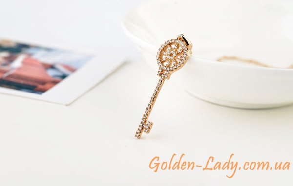 кулон ключик Тиффани золотой