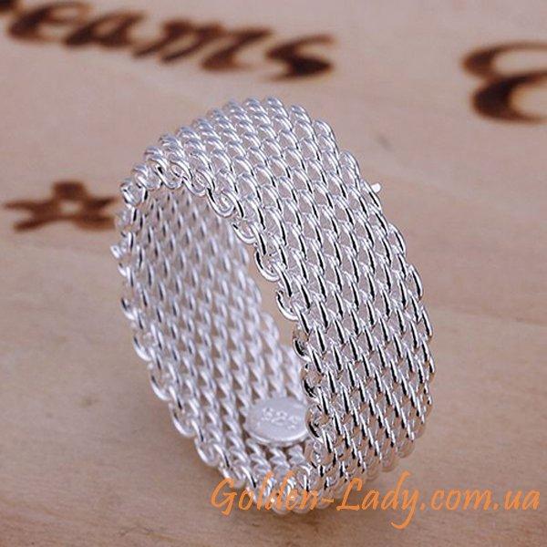 Кольцо Tiffany (копия), покрытие - серебро 925