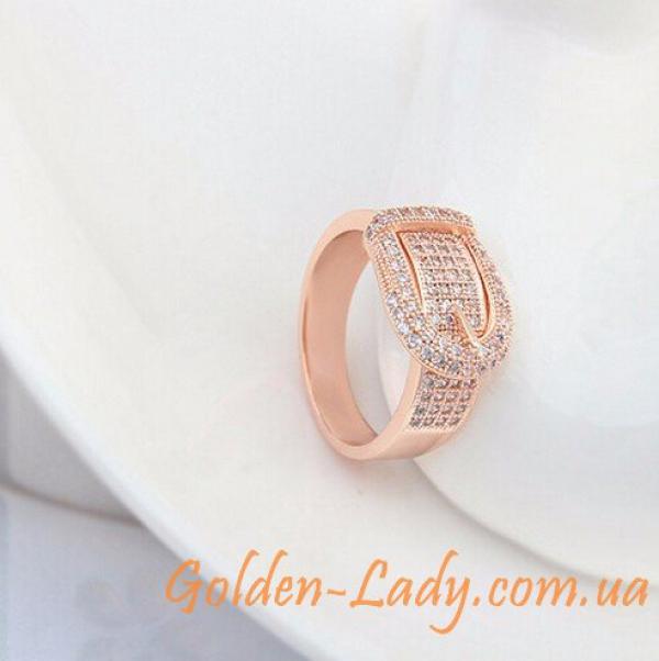 кольцо в виде пряжки ремня