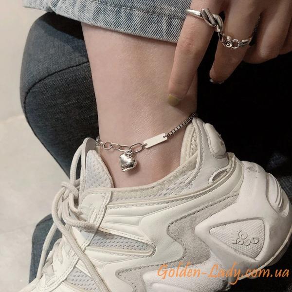 объемный браслет на ногу