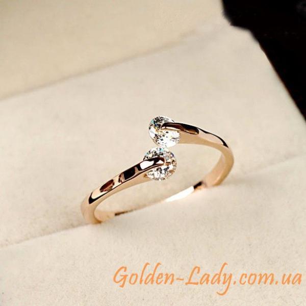 """Кольцо с двумя камнями """"Lea Massari"""""""