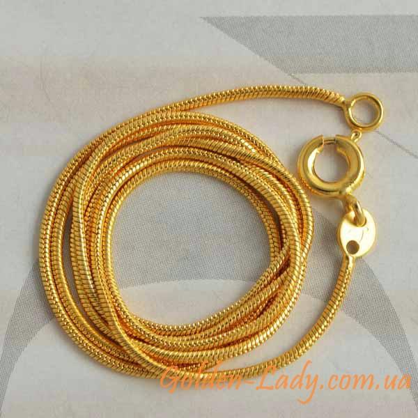 цепочка с круглым плетением