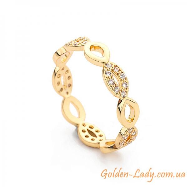 """Переплетенное кольцо """"Vivi"""" желтое золото"""