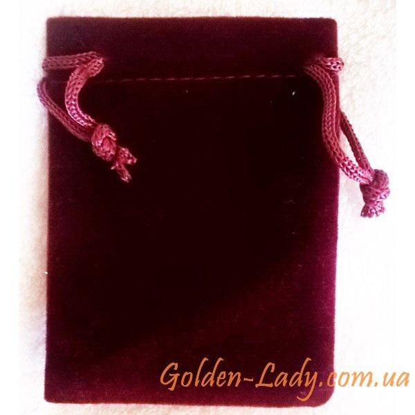 Мешочек для украшений из красного бархата