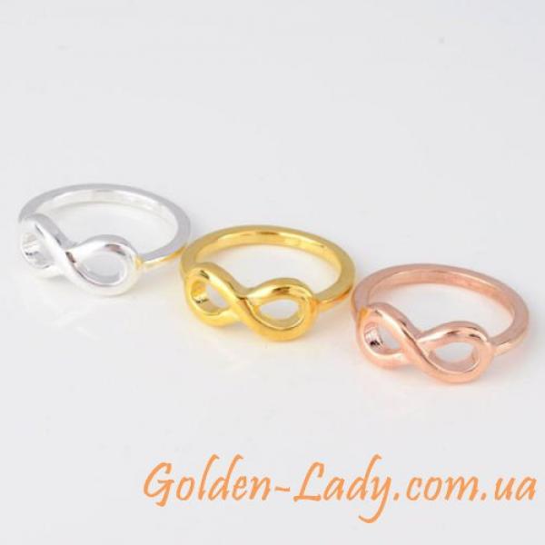 Кольца бесконечность в трех цветах