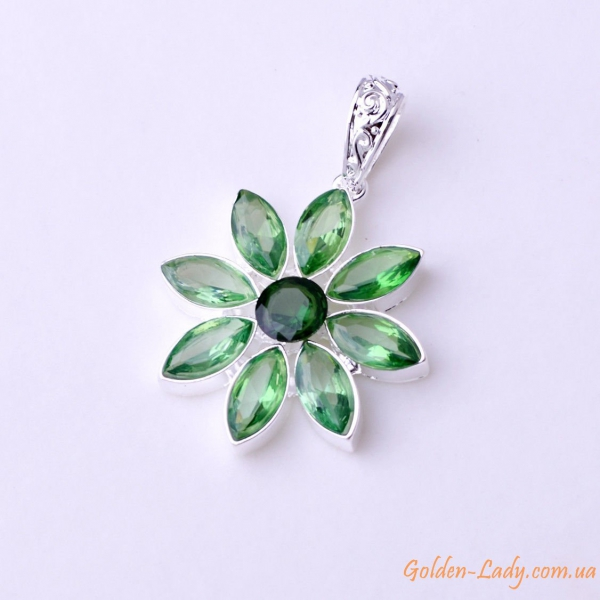 HOT SALE Facet Emerald Charming 925 Sterling Silver Necklace Pendant A518