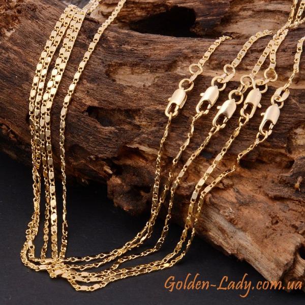 Золотая цепочка Gold Filled, 18 карат с пробой