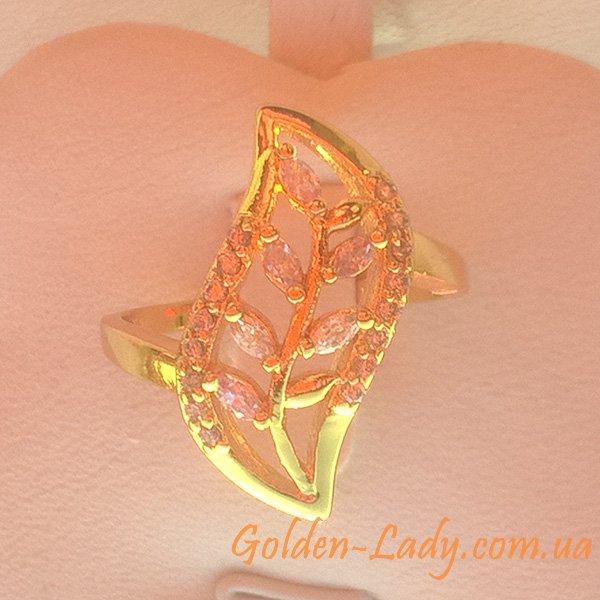 Кольцо в форме лепестка с кристаллами Swarovski