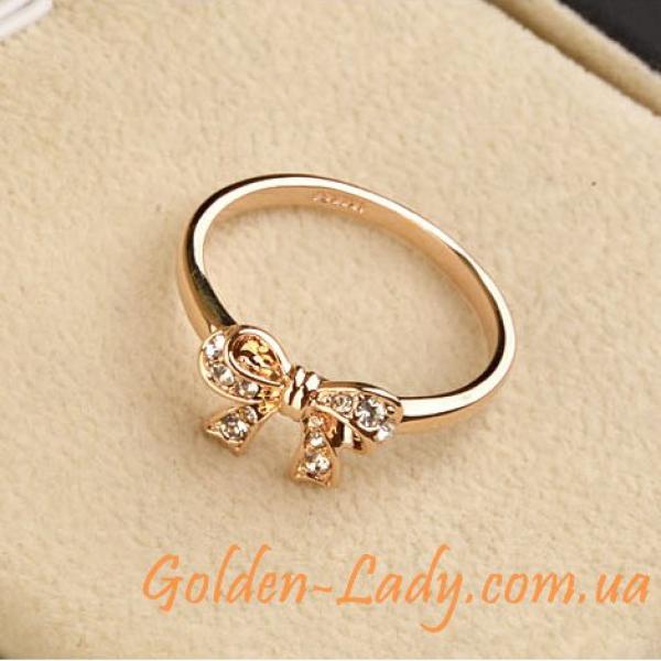 """Кольцо с блестящим бантиком """"Lilly"""""""