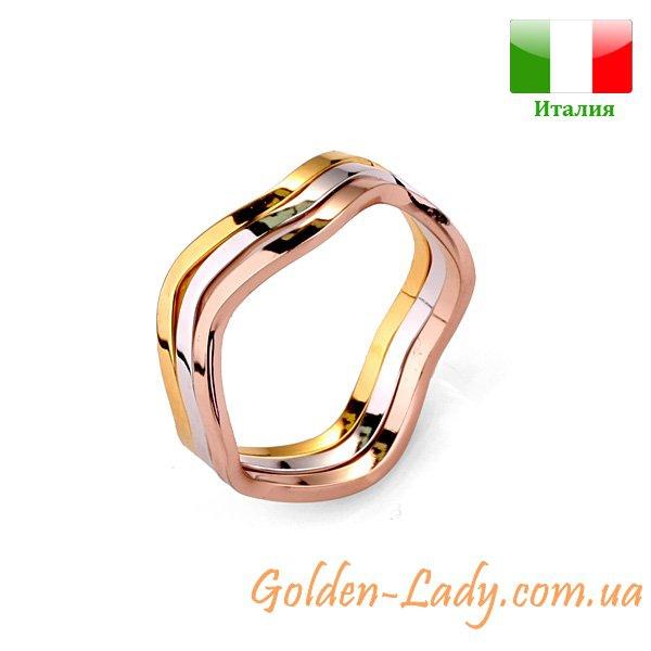 Тройное кольцо Capello Multicolor разноцветное