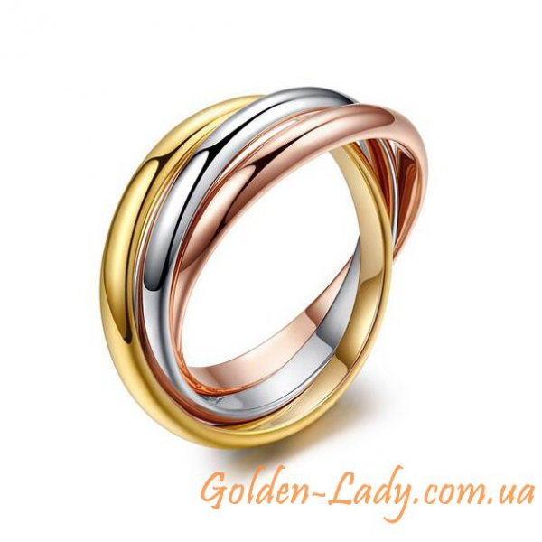кольцо из трех колец Картьер Классик