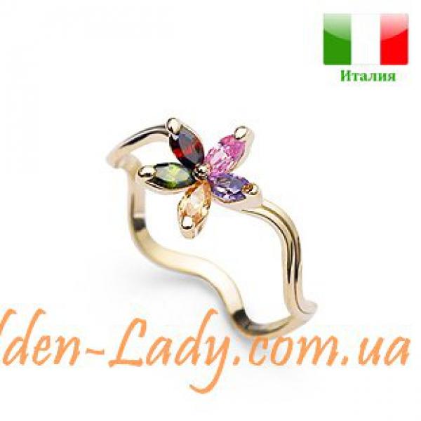 """Необычное кольцо с цветком """"Divine Flower"""""""