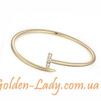 купить золотой браслет в виде гвоздя