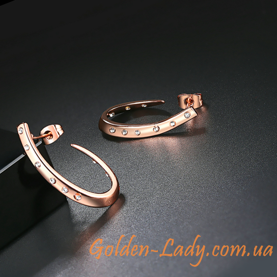 незамкнутые серьги-кольца