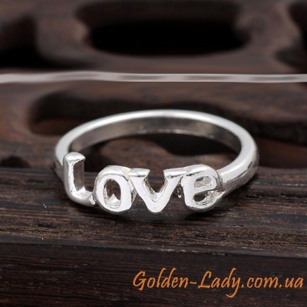 Кольцо Love, 3 цвета