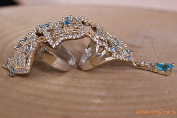 Серебряне кольца на фаланги