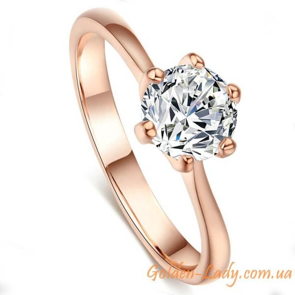 Кольцо с классическим бриллиантом