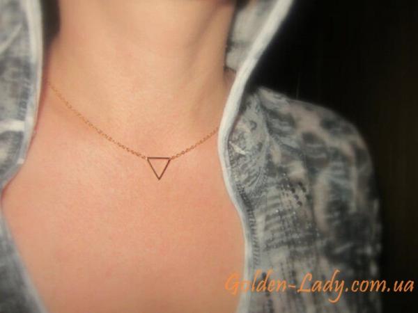 Кулон Треугольник с цепью