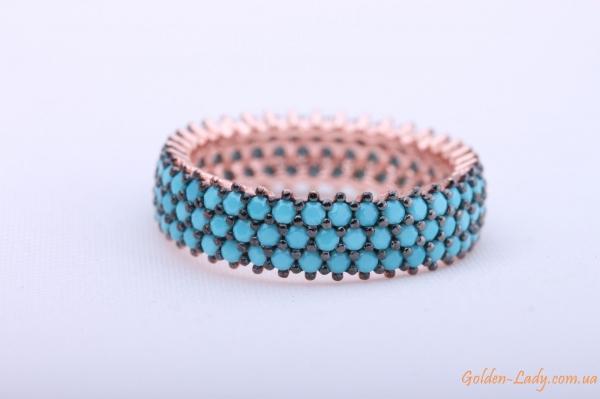"Серебряное кольцо с бирюзой ""Аджена"""