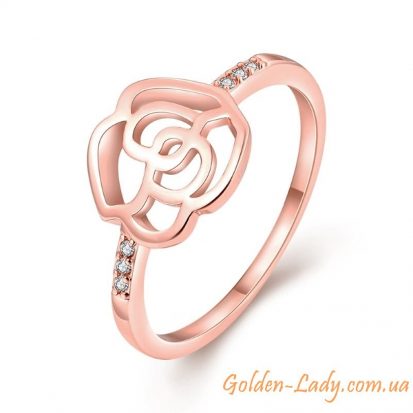 Кольцо в виде розы