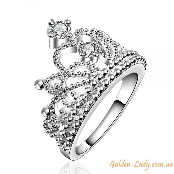 Кольцо в виде короны Silver Queen серебро 925