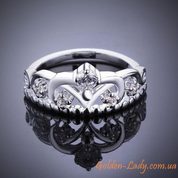 """Кольцо в форме короны """"Brilliant island'"""