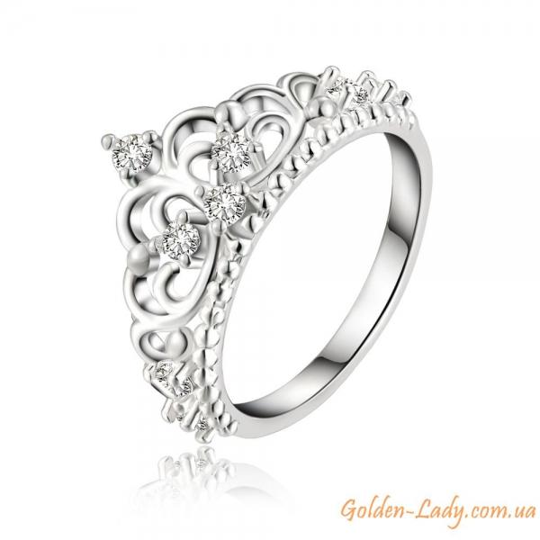 """Кольцо в виде короны """"Original"""", покрытое серебром 925"""