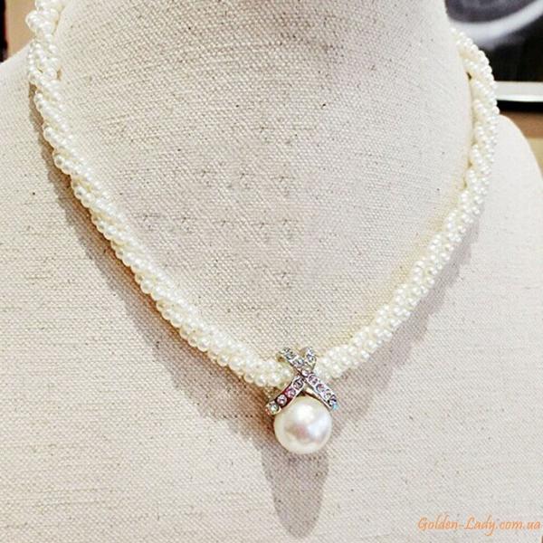 """Ожерелье из искусственного жемчуга """"Vita"""""""