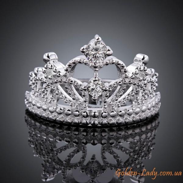 Кольцо в виде короны Silver Queen
