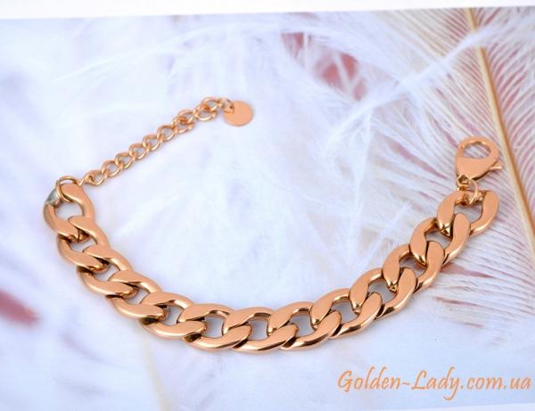 широкий золотой браслет