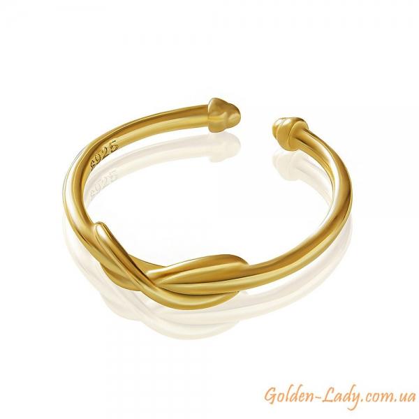 кольцо на палец ноги желтое золото