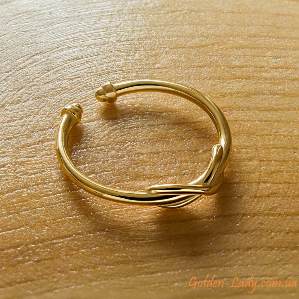 Кольцо на палец ноги Infinity в желтом золоте