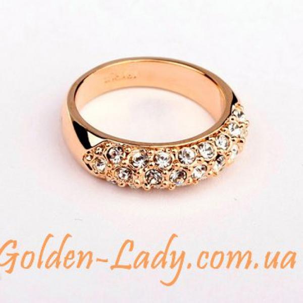 "Кольцо с австрийскими кристаллами ""Merlini"", 2 цвета"
