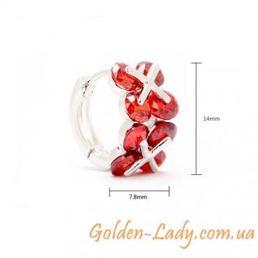 размер сережек Pomegranate