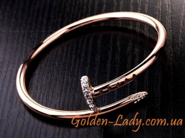 браслет в виде гвоздя золото
