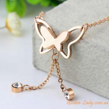 """Браслет на ногу с бабочками """"Butterfly Style"""""""