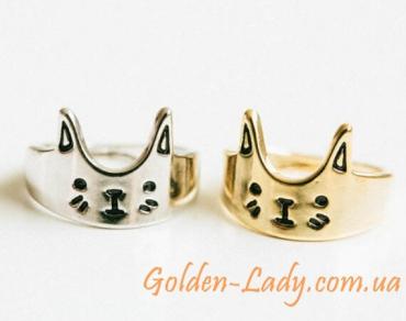 "Кольцо в форме кошки ""Thin Fashion"""