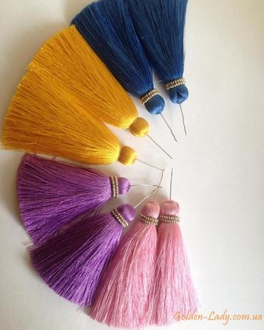 Сережки кисти разных цветов