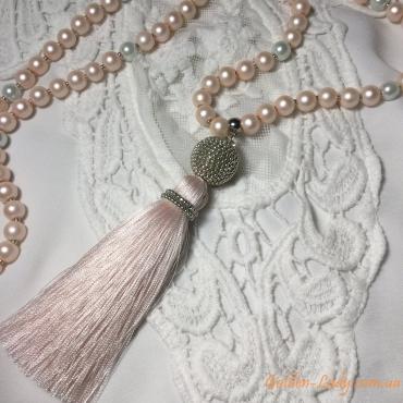 Кремовые сережки кисточки Golden Lady